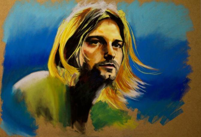 Kurt Cobain NIRVANA legends of guitar