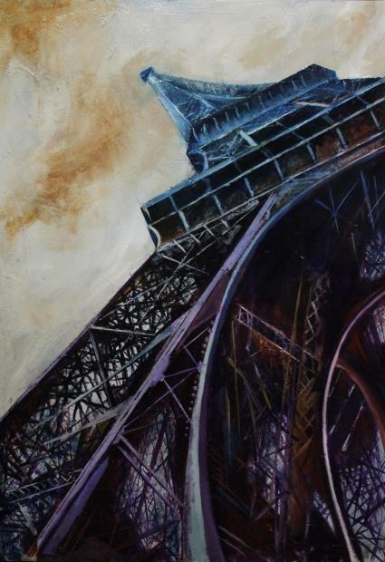 Torre Eiffel pintura al oleo